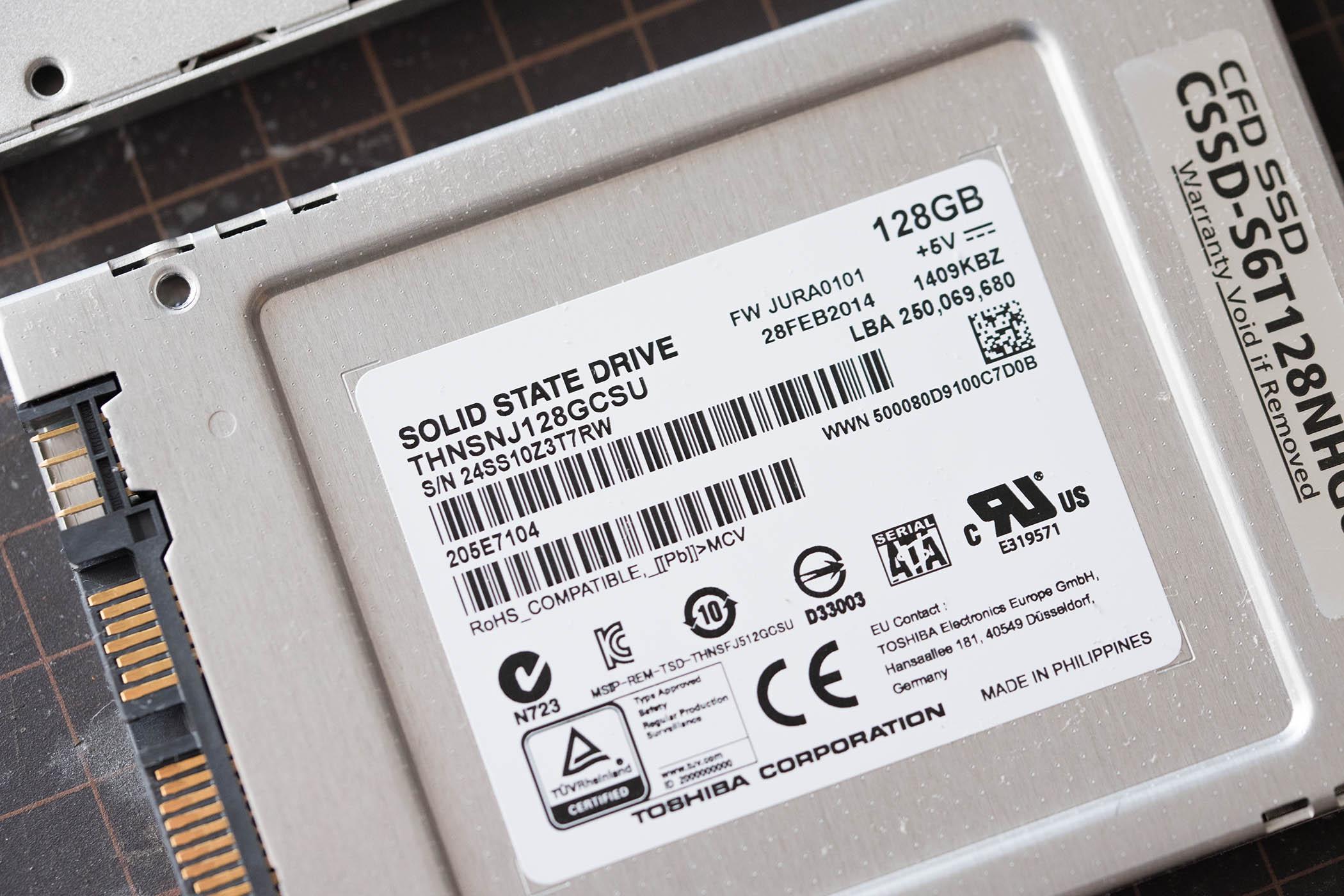 壊れる前にSSD交換とOSコピー